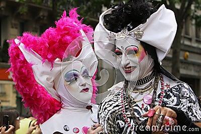 Grotesque costumes at Paris Gay Pride 2009 Editorial Image