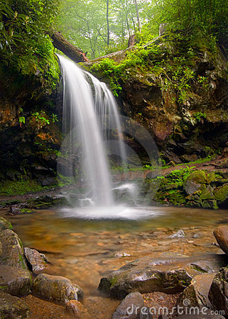 Free Grotto Falls Smoky Mountain Waterfall Royalty Free Stock Photo - 13229825