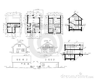 Ground plan of flat building