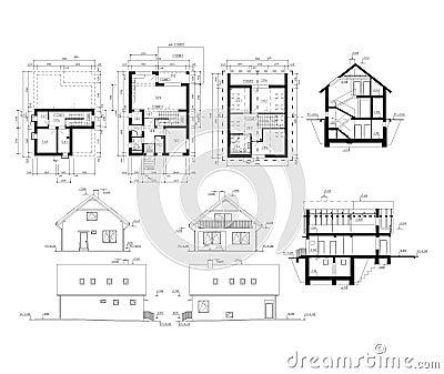 Ground plan of flat building