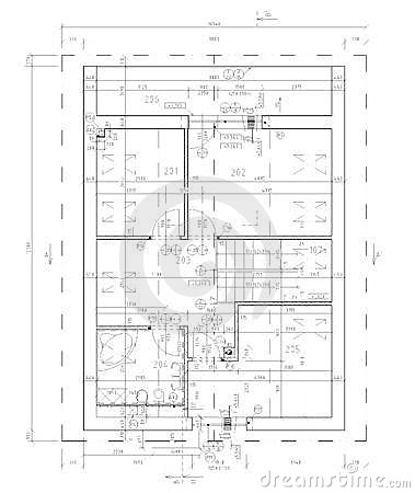 Free Ground Plan Of Flat Building Royalty Free Stock Images - 19931809