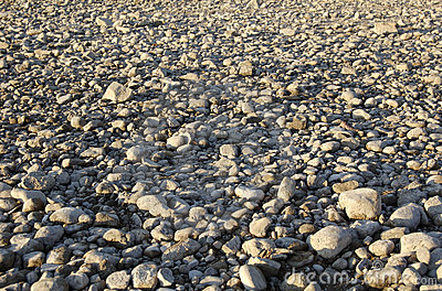 Ground with rocky pebbles