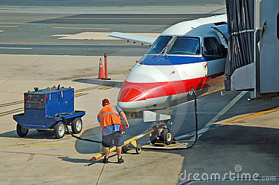 Ground service of airplane
