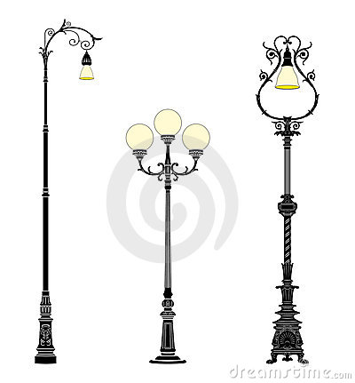 Ground street lamps
