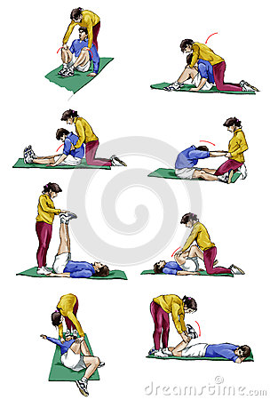 Ground stretching for couples