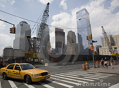 GROUND ZERO CONSTRUCTION SITE Editorial Stock Image