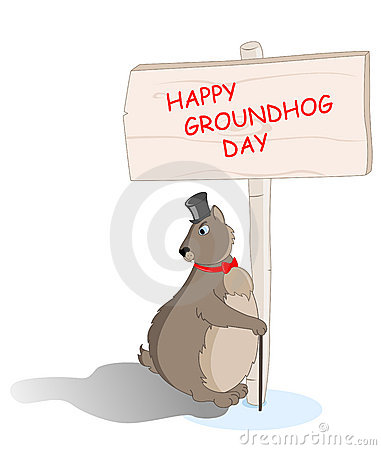 Groundhog saw his shadow