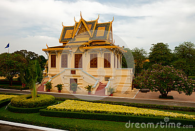 The grounds of the Royal Palace in Phnom Penh