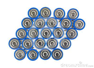 Group of AA batteries