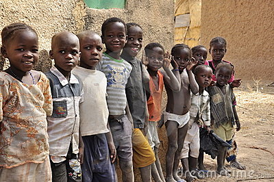 Group of african children at school Editorial Photography