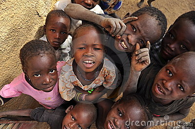 Group of african children smiling Editorial Photo