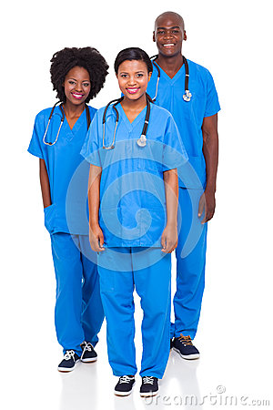 Group healthcare workers