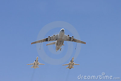 Group of aircrafts Editorial Photo