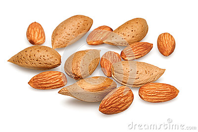 Group of almonds