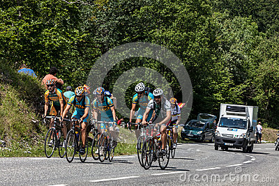 Group of Amateurs Cyclists Editorial Stock Photo