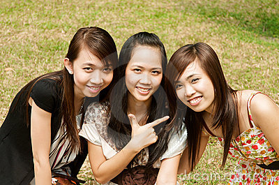 Group of Asian Girl