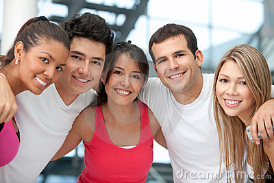 Group of athletic people