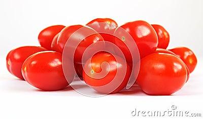 Group of baby Pomodorino plum tomatoes