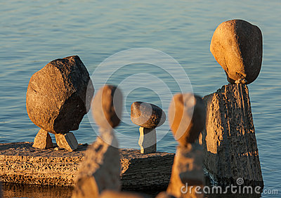 Group of Balanced Stones Editorial Image
