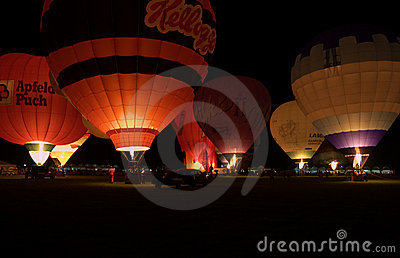 Group of balloons in the night glow Editorial Image