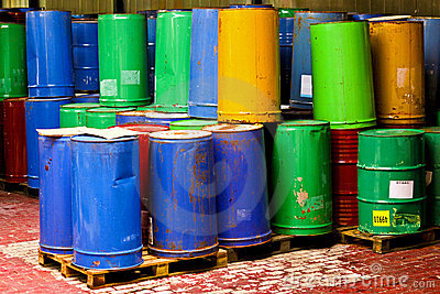 Group of barrels