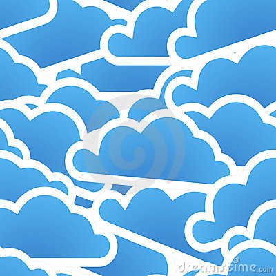 Group of blue clouds