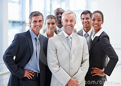 Group of business colleagues standing together