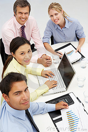 Group in business meeting