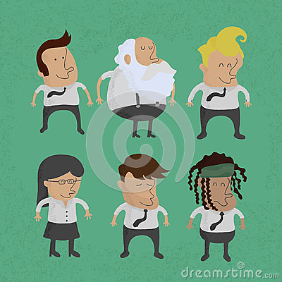Group of business men charactor, women