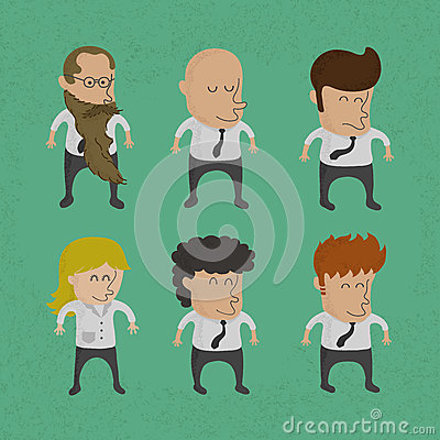 Group of business men , women charactor