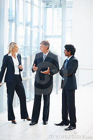 Group of business people discussing business issue