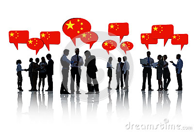 Group of Business People Discussing China