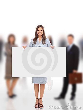 Group of business people holding