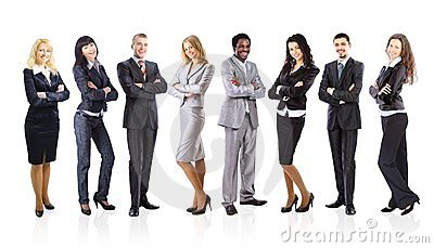 Group of business people isolated