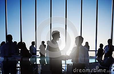 Group of Business People Making Agreement