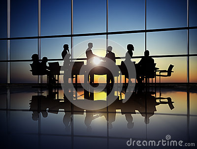 Group of Business People Making Agreement in the Office