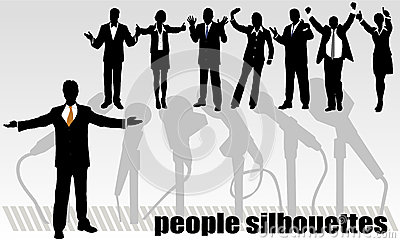 Group Of Business People And Office Royalty Free Stock Image - Image: 25879266