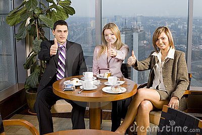 Group of Business People at the Table