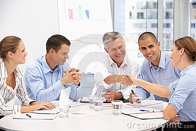Group of Business Proffessionals in meeting
