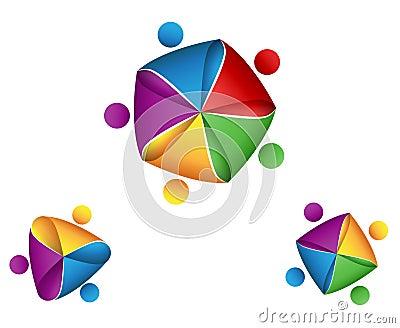 Group business symbol. union concept