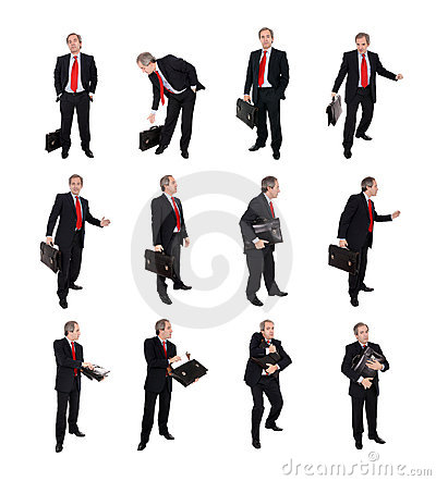 Group of Businessmen with a briefcase