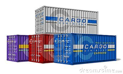 Group of cargo containers
