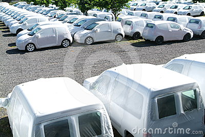 Group of cars at la Reunion island