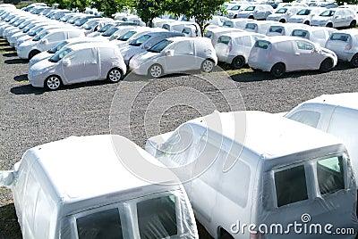 Group of cars at la Reunion island