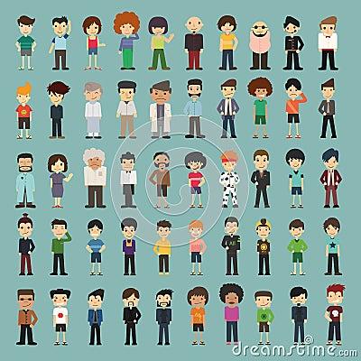 Group cartoon people Vector Illustration