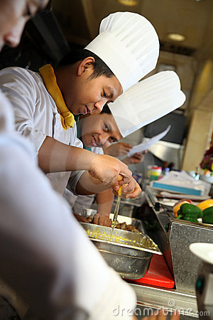 Group of chef busy