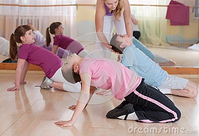 Group Of Children Engaged In Physical Training. Stock Photography - Image: 27217772