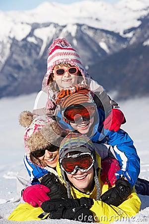 Group Of Children Having Fun On Ski Holiday
