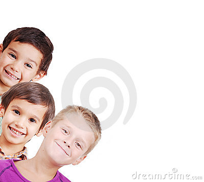 Group of children isolated
