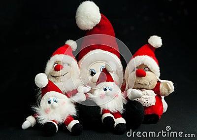 Group of christmas elfs
